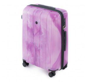 średnia walizka z polipropylenu z kolekcji Linia PP Flower