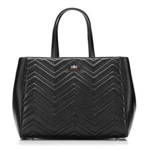 pikowany czarny kuferek