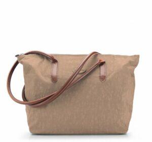 jasnobrązowa torebka shopper