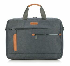 materiałowa torba na laptopa