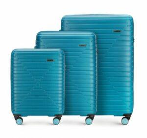 niebieski zestaw walizek z Linii K2