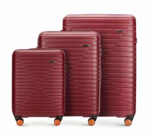 czerwony zestaw walizek z Linii K2