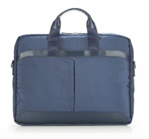 granatowa torba na laptopa z nylonu