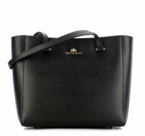 czarna torba typu shopper