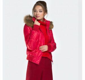 czerwona kurtka damska