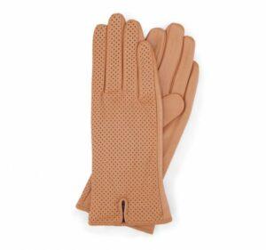 rękawiczki w odcieniu camelowym