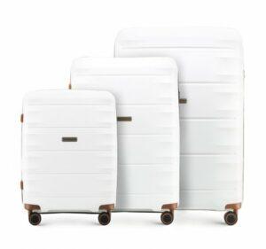 biały zestaw walizek z kolekcji PP Light One