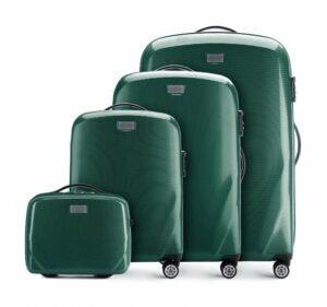 zielony zestaw walizek z kolekcji PC Ultra Light