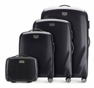 czarny zestaw walizek z kolekcji PC Ultra Light