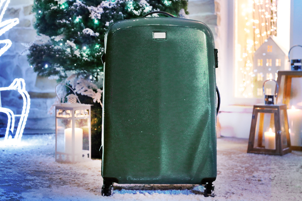zielona walizka