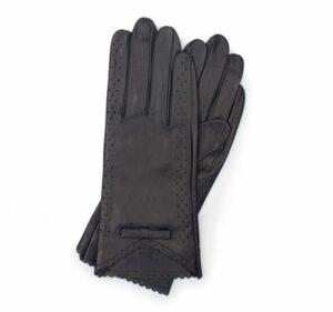 czarne rękawiczki z kokardką