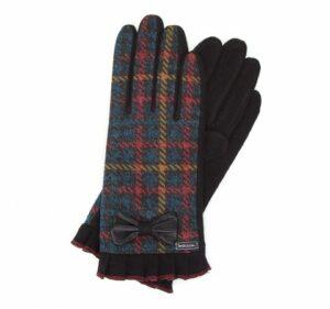 multikolorowe rękawiczki z wełny