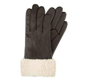 brązowe rękawiczki damskie z polarem