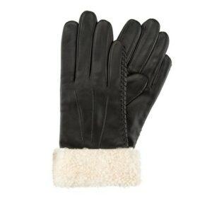 czarne rękawiczki damskie z polarem