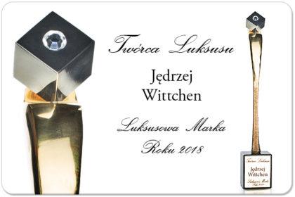 """Jędrzej Wittchen uhonorowany statuetką """"Twórcy Luksusu!"""