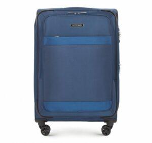 niebieska walizka z kolekcji Travel Light II