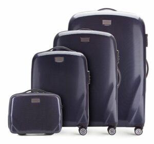 granatowy zestaw walizek z kolekcji PC Ultra Light