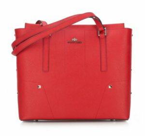 czerwona torba typu shopper bag
