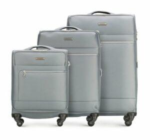 szary zestaw walizek z kolekcji Super Light Line