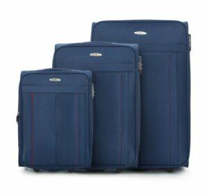 granatowy zestaw walizek z kolekcji Basic+