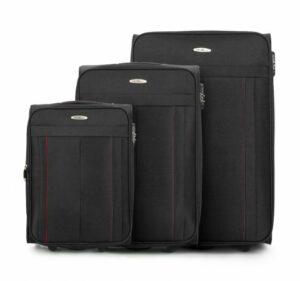 czarny zestaw walizek z kolekcji Basic+