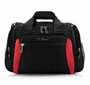 czarno-czerwona torba na ramię