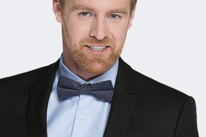 granatowo-bordowy krawat męski