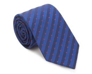 krawat w kolorze granatowo-bordowym