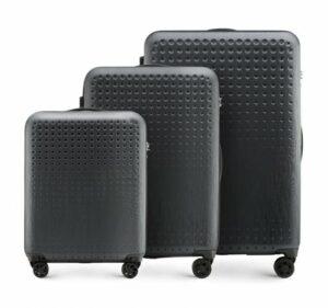 czarno-czerwony zestaw walizek z kolekcji S-Line II