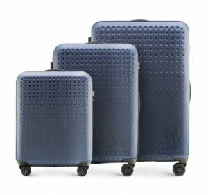 granatowo-czerwony zestaw walizek z kolekcji S-Line II