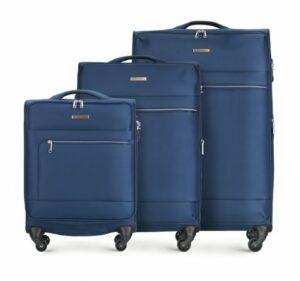 granatowy zestaw walizek z kolekcji Super Light Line