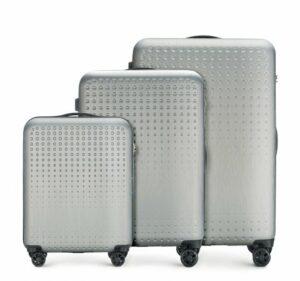 szaro-niebieski zestaw walizek z kolekcji S-Line II