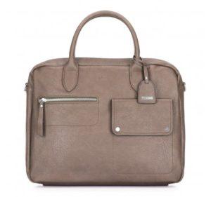 beżowa torba na laptopa