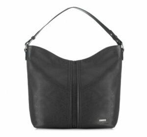 czarna torba typu hobo bag