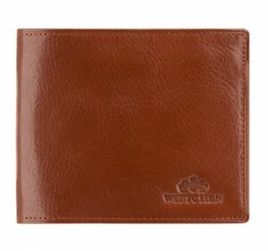 brązowy portfel męski