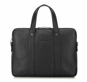 czarna torba na laptopa z kolekcji City Leather
