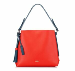 czerwono-granatowa torebka hobo bag z kolekcji Young
