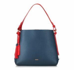granatowo-czerwona torebka hobo bag z kolekcji Young