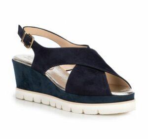 granatowe sandały damskie – nowości wiosna–lato 2019