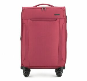 wielka majówka: bordowa walizka z kolekcji Super Style