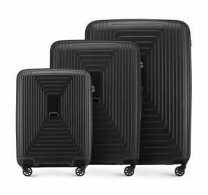 czarny zestaw walizek z kolekcji PP Pulse