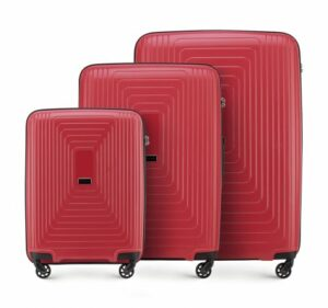 czerwony zestaw walizek z kolekcji PP Pulse