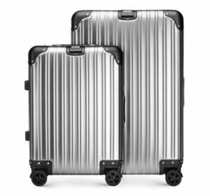 srebrny set walizek z kolekcji Aluminium Line