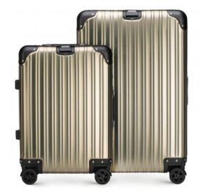 złoty set walizek z kolekcji Aluminium Line
