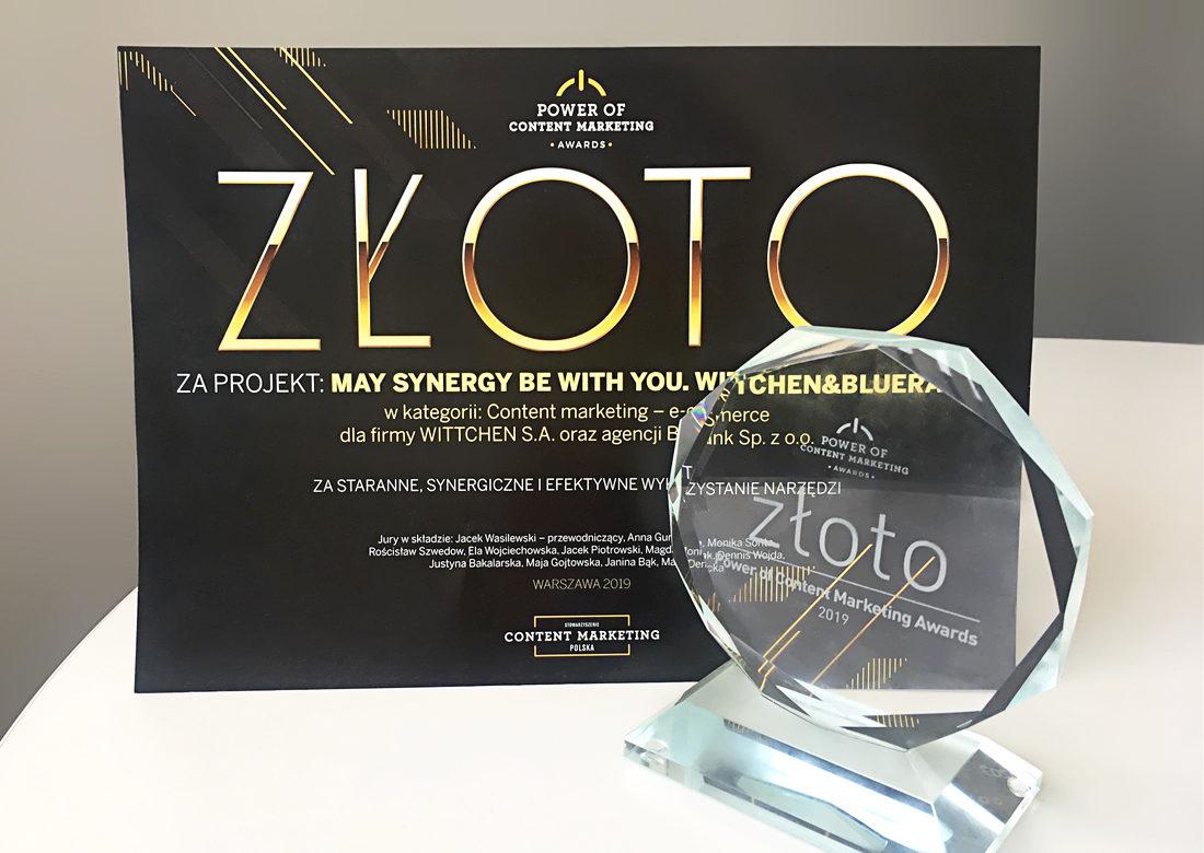 Złoto w konkursie Power od Content Marketing Awards 2019