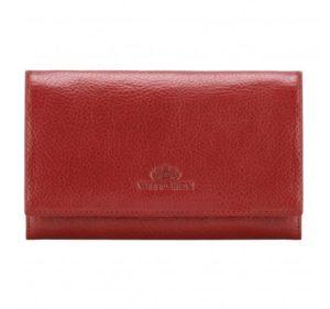 duży portfel ze skóry licowej