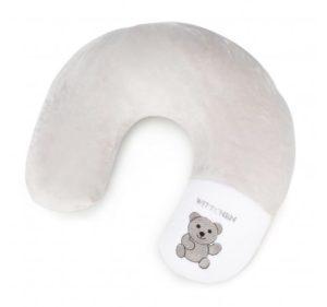 jasnoszara poduszka podróżna dla dziecka
