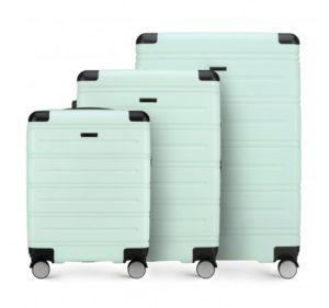 miętowy zestaw walizek z kolekcji Corner Line