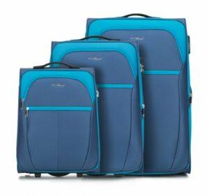 niebieski zestaw walizek z kolekcji VIP Collection