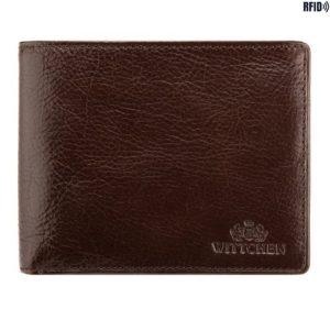 portfel ze skóry licowej z ochroną RFID